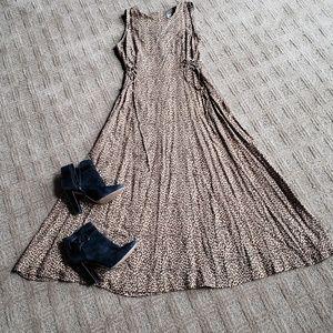 Vintage! Animal print dress, sz 8